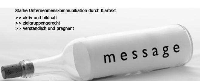 Botschaft: starke Unternehmenskommunikation durch Klartext